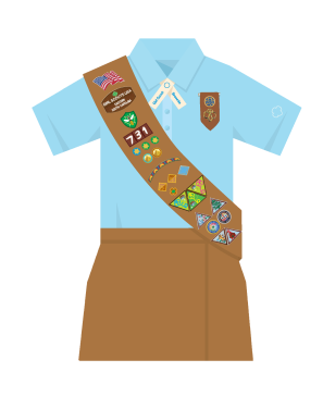 brownie sash